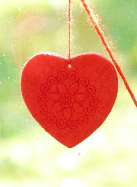 Heart Emotion Touched Window Decorations Felt Chri