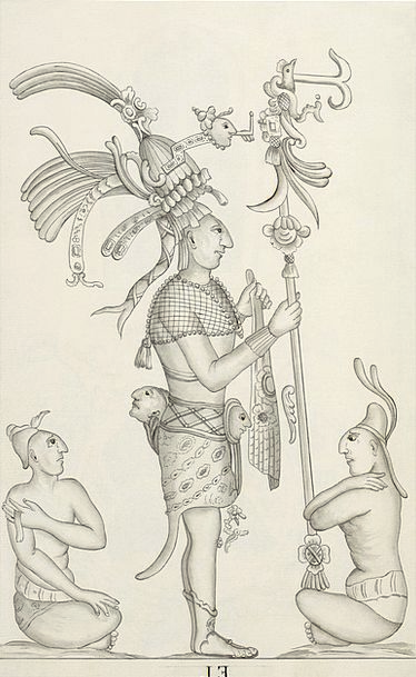 Maya Mexico Aztecs Drawing Sketch Palenque 1787