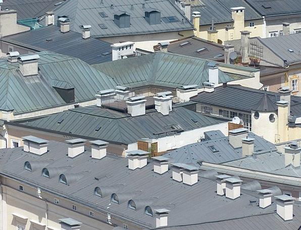 Roofs Rooftops Buildings Architecture Salzburg Cit