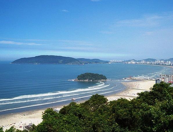 Mar Deface São Vicente Blue Sky Litoral