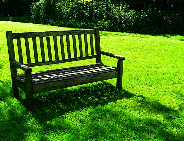 Garden Bench Set Sit Be seated Bank Recovery Relax