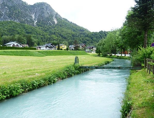 Berchtesgadener Ache Stream Bach River Salzach Wat