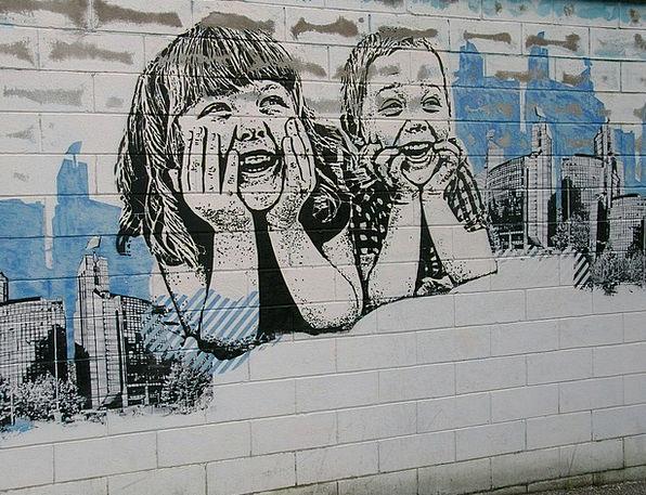 Murals Frescoes Broods Girl Lassie Children Wall P