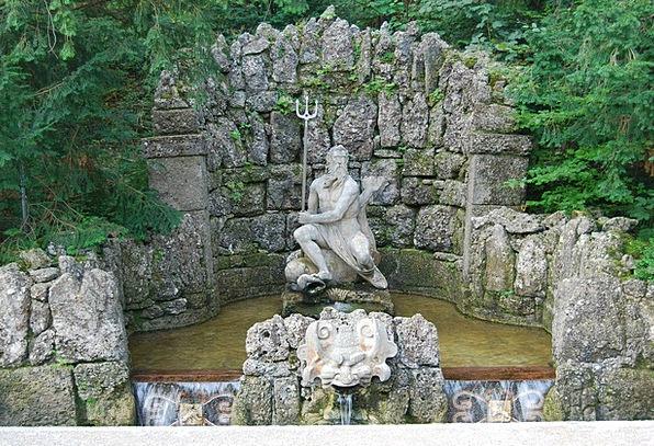 Salzburg Hellbrunn Austria Palace Fortress Gardens