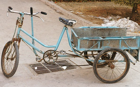 Tricycle Traffic Motorbike Transportation Bicycle