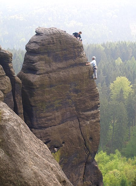 Elbe Sandstone Mountains Mountaineer Hiker Pfaffen