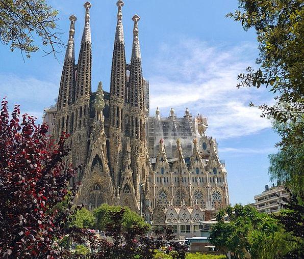Sagrada Familia Buildings Church Architecture Arch