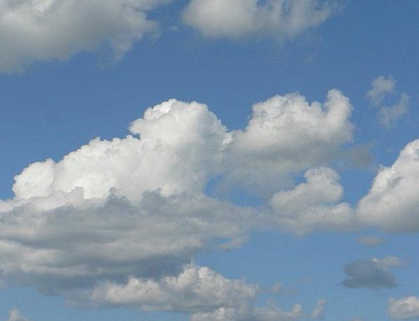 Clouds Vapors Blue Azure Sky White Snowy Cumulus C