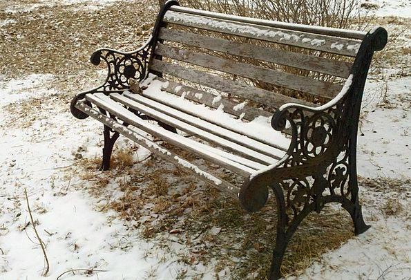 Bench Common Snow Snowflake Park Winter Season Qui