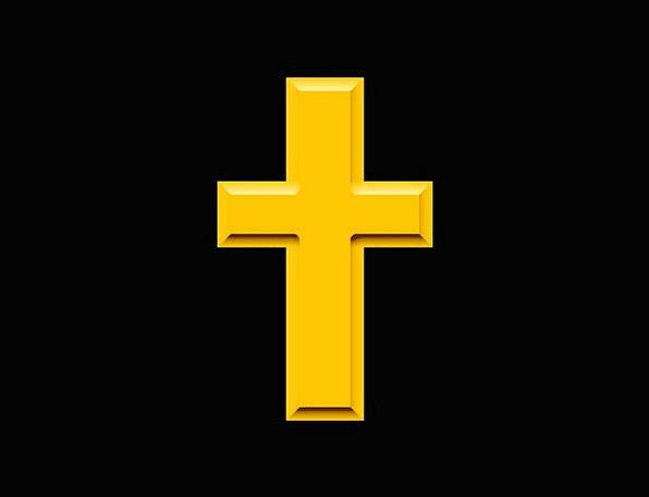 Cross Irritated Sign Golden Excellent Symbol Jesus
