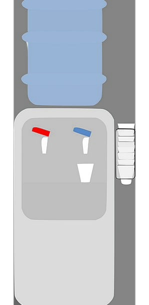 Water Cooler Furniture Equipment Water Dispenser F