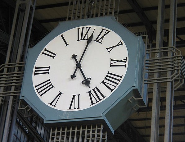 Clock Timepiece Railway Station Time Of