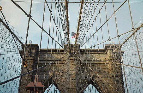 Brooklyn Bridge Bond Suspension Bridge Viaduct Bri