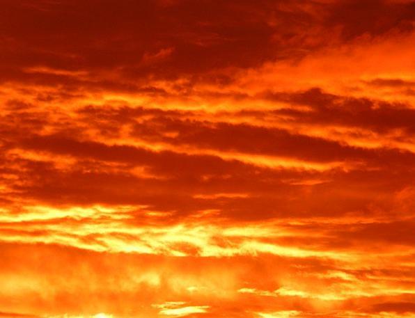 Sunset Sundown Vacation Travel Sky Blue Sun Fire P