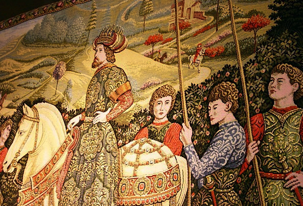 Tapestry Wall-hanging Cavaliers Middle Ages Knight