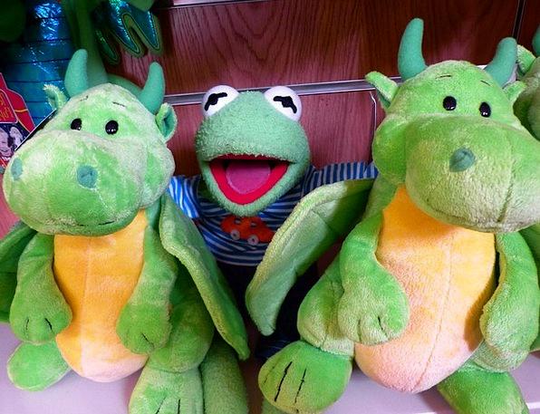 Kermit Frog Plush Toys Dragons Fun Green Friends D