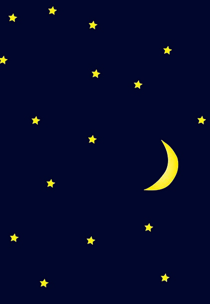 Starry Glittery Nightly Moon Romanticize Night Tra
