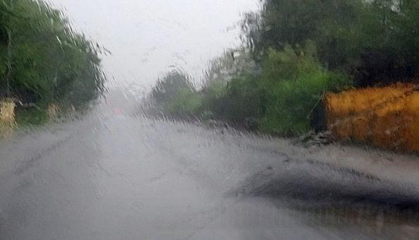 Rain Volley Traffic Impression Transportation Road