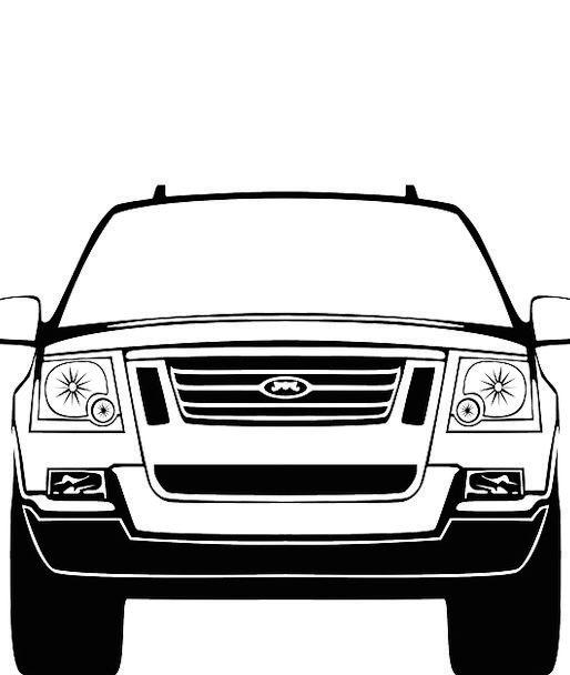 Suv Traffic Residential Transportation Front Obver