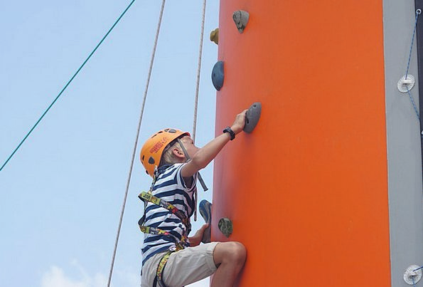 Climbing Uphill Youngster Safety Care Child Climbi