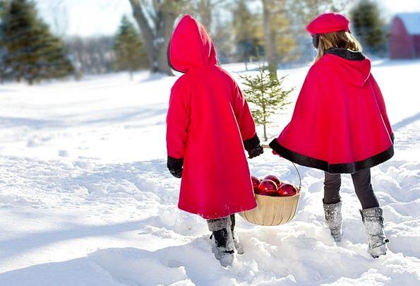 Christmas Girls Lassies Snowy Snow-white Girls Sno