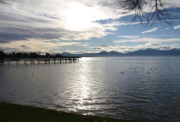 Chiemsee Landscapes Understand Nature Water Aquati