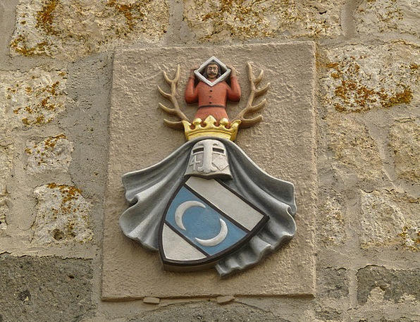 Coat Of Arms Crest Fortress Knight Cavalier Castle