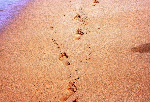 Footprints Paths Vacation Seashore Travel Footprin
