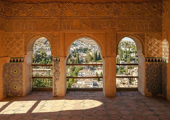 Spain Monuments Places Pavilion Rotunda Alhambra T