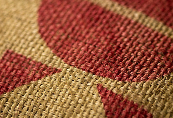 Burlap Close-Up Detail Coffee Sack Tan Bronzed Red