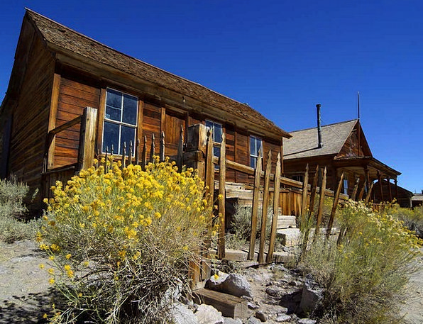 Ghost Town Wild West Bodie Usa Old Leave Cottages