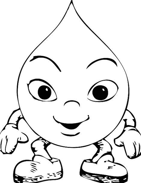 Raindrops Humorous Characters Fonts Funny Child Ca