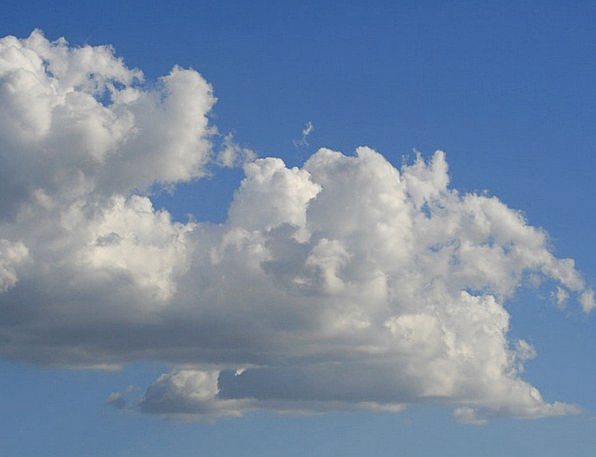 Clouds Vapors White Snowy Cumulus Sky Blue Fluffy
