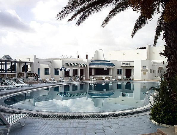 Swimming Pool Baths Chairs Seats Palm Tree Tunisia