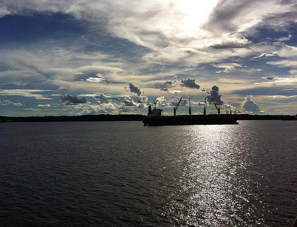 Amazonas Blue Water Aquatic Sky Clouds Vapors Blue