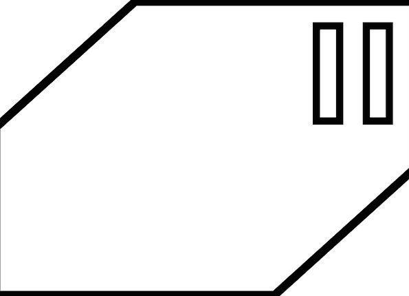 Block Chunk Form Two Binary Shape Slots Slits Slot