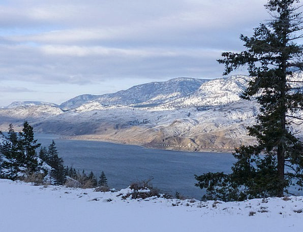 Kamloops Lake Landscapes Nature Canada British Col