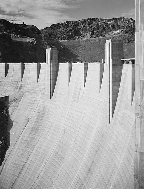 Hoover Dam Monuments Places 1930S Black And White