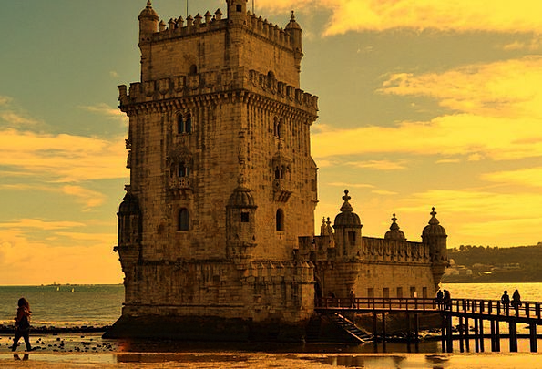 Lisbon Buildings Memorial Architecture Travel Port