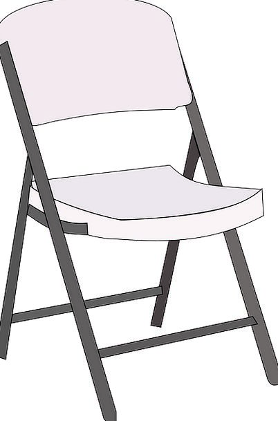 Chair Chairperson Equipment Folded Doubled Furnitu