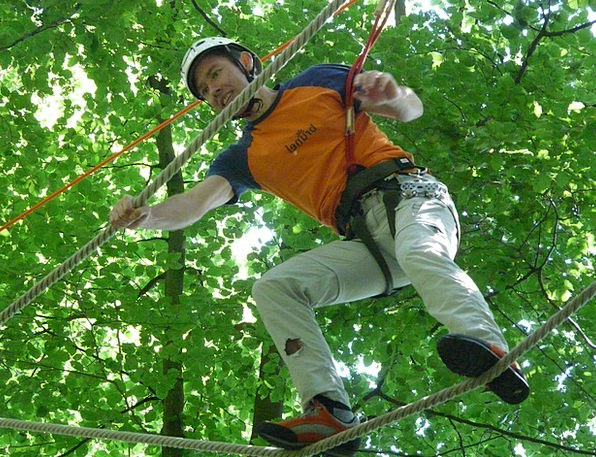 High Ropes Course Landscapes Equilibrium Nature Vo