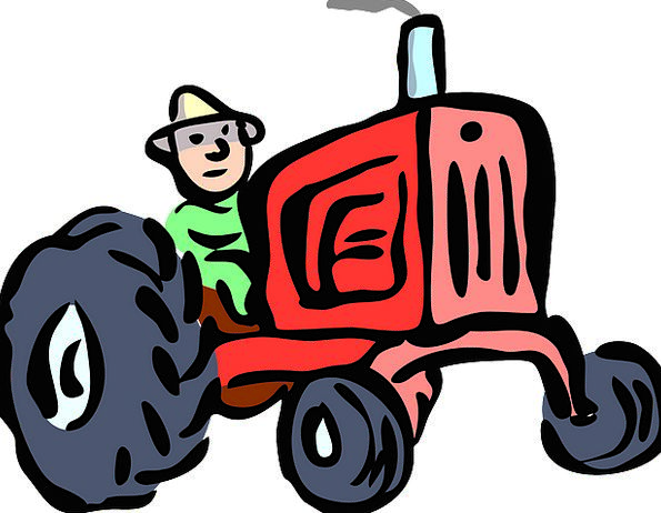 Tractor Traffic Farmhouse Transportation Farmer Ag