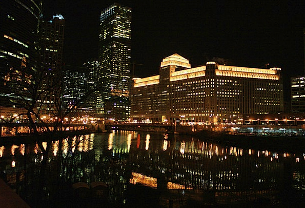 Chicago Buildings Architecture Night Nightly Chica