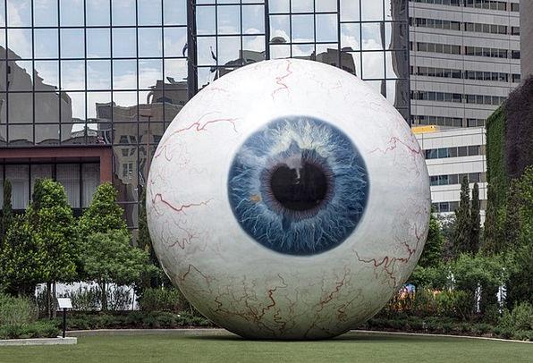Giant Eyeball Downtown Center Enormous Orb Urban S