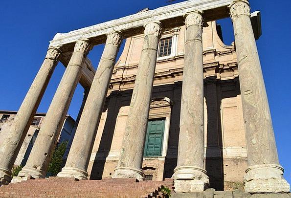 Roman Forum Pillars Italy Columns Rome Roman Templ