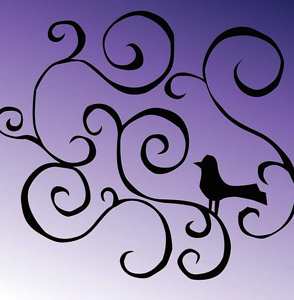 Bird Fowl Locks Purple Elaborate Curls Free Vector