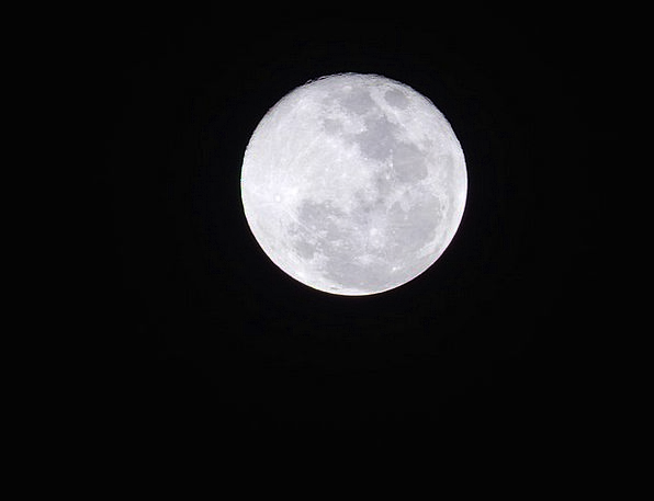 Moon Romanticize Landscapes Nightly Nature Sky Blu