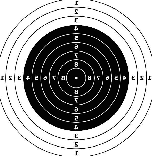 Targets Boards Riffle Flick Bullseye Gun Firearm P