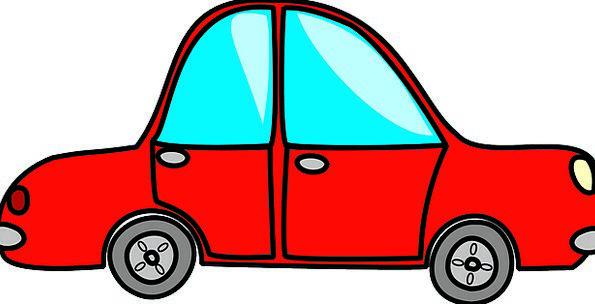 Red Bloodshot Traffic Carriage Transportation Vehi
