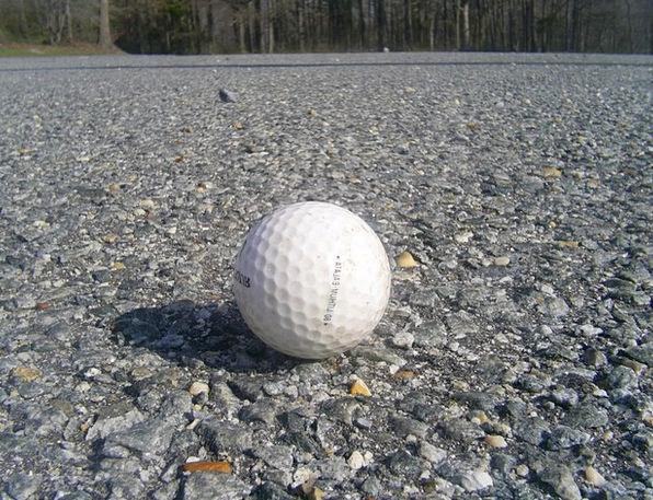 Golf Ball Traffic Street Transportation Asphalt Ta